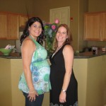 Amy: Another host of the shower, due a day before me.  It's been great having someone to talk through the pregnancy with.