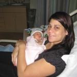 Mel with Evangeline at hospital