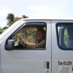 Basil driving the Belize Mission and Reatreat van around the village while a team is here.
